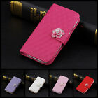 Luxury Leather Crystal Flip Stand Wallet Case Cover for Samsung Galaxy S3 S4 S5