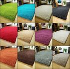 NEW SMALL LARGE THICK PILE LUXURIOUS NON SHEDDING PLAIN SHAGGY RUGS