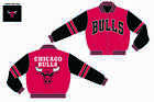 2014 Chicago Bulls 2-Tone Reversible Red and Black Mens Wool Jacket by JH Design