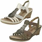 Ladies Remonte Wedge Sling Back Sandals D6747