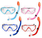 Kids SILICONE Mask + Snorkel 2PC Diving Set - Junior Snorkelling Boys Girls Dive