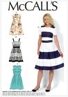 McCalls 7082 4 in 1 Contrast Stripe Party Dress Full Skirt Sewing Pattern M7082