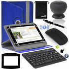 EEEKit for 8 inch tablet PU Case Cover+Wireless Bluetooth Speaker Keyboard Mouse