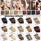 clip in remy extensions 100% human hair full head cheap 7pcs set