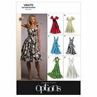 Vogue 8470 Easy Options Maxi Halter Neck Dress Sewing Pattern V8470 6 in 1