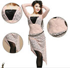 New Lace Belly Dance Costume 2 pics Diamond Blouse Top&Long Skirt Dress 4 colors