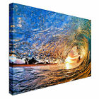 Crashing Waves On Beach Surfing Canvas Art Cheap Wall Print Home Interior