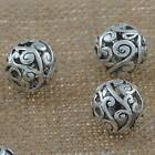 DIY Jewelry Findings Tibetan Silver 14mm Hole 2mm Big Round Loose Beads AD-18366