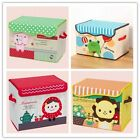 Kid Childs  Zoo Toys Dolls Book Clothes Storage Box Tidy Handle Foldable Lid -LA
