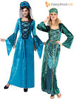 Ladies Deluxe Medieval Fancy Dress Costume Womens Tudor Queen Historical Outfit