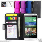 NEW Leather Wallet Case Cover For HTC Desire 610