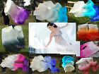 1 pair sturdy white~various colors 1.5m*0.9m belly dance silk fan streamers+bag