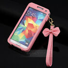 BOW Chain Wristlet Strap Leather  Pouch Sleeve Case for Samsung Galaxy S5 I9600