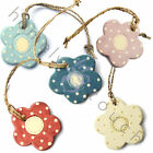 New East Of India Choice Of Wooden Polka Dot Hanging Flowers Gift Tags Decor