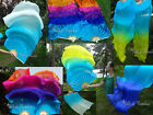 1 pair turquoise~various colors 1.8m*0.9m belly dance silk fan veils+carry bag.