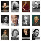 Famous 60 Geniuses 60 Quotes Motivational Inspirational Prints Posters A4, A3