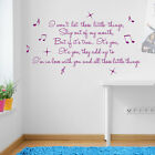Little Things Lyrics Wall Quote One Direction Stickers Home Art Decal Vinyl A253