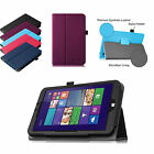 "Folio PU Leather Stand Cover Case for WinBook TW802 TW801 8"" Windows 8.1 Tablet"