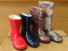 NEW Rain Boots Wellies Waterproof  Rubber Kids Girls Shoes Knee Jelly All Sizes
