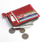 Men Women Genuine Leather ID Credit Card Coin Holder Small Wallet Purse