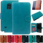 New Leather Wallet Flip Case id Card Holder Purse Pouch Case Cover For LG Phones