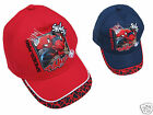 Boys Spiderman Cap Hat Marvel Embossed Spider-Man Red or Blue One Size Fits All