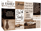 Family Quotes Brown Tone Canvas Wall Art  Picture 100% cotton - A1, A2, A0 sizes