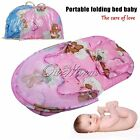 Infant Baby Portable Folding Travel Crib Bed Canopy Mosquito Net Tent + Pillow