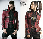 Fashion Unisex Punk Kera Streampunk Visual Kei Gothic short Fashion Jacket Coat