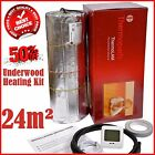 Under Wood Under Laminate Electric Underfloor Heating Kit 24m2 Dual Core