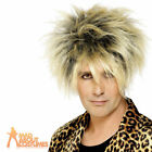 Rod Stewart Wig Rugged Blonde Wild Boy 80s Mens Fancy Dress Costume Accessory