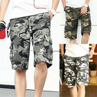 Men's Casual Military Army Cargo Camo Combat Work Shorts Camouflage Short Pants