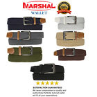 Marshal Wide Men's Elastic Stretch Belt Gunmetal Buckle Belt Casual Golf Belt