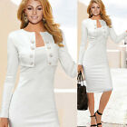 New Ladies Office Dress Work Pencil Bodycon Party Sexy Womens Business Dresses