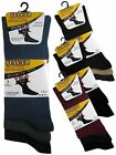 12 Mens Stay-Up Diabetic Non Elastic Cotton Rich Wider Loose Top Socks / UK 6-11