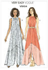 Very Easy Vogue 9104 Bohemian Maxi Summer Dress Loose Sewing Pattern V9104 2in1
