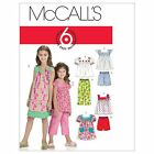 McCalls 6022 Girls Dress Shorts Trousers Pants Sewing Pattern 3-14 Yrs M6022
