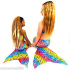 UK MERMAID SWIM TAIL RAINBOW BUBBLES No Foot Access TO FIT OUR MERMAID SWIM FINS