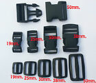 Buckle Clips 20mm/25mm/40m/50mm Delrin Plastic Side Release /Sliders For Webbing