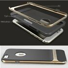 Rock Hybrid Gold Hard Bumper Soft Rubber Case Cover for Apple iPhone 6 / 6 Plus