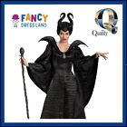 Adult Womens Licensed Disney Deluxe Long Maleficent Fancy Dress Costume