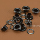 New Gunmetal Black 4/5/6/8/10mm 100 Sets Eyelets w/Washer Grommets Leather Craft