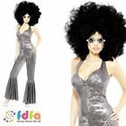 70s DISCO DIVA FEVER BABE CATSUIT - UK 8-14 - womens ladies fancy dress costume