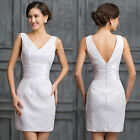 Sexy Short Summer Dress Party Evening Formal Bridesmaid Prom Bodycon Dresses NEW
