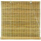 Burnt Bamboo Roll Up Blinds - Natural
