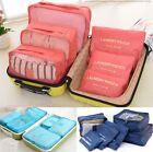 6 Pcs Set Waterproof Clothes Storage Bags Packing Cube Travel Luggage Organizer