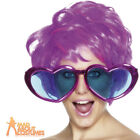 Jumbo Heart Shaped Specs Oversized Disco Sun Glasses 70s Fancy Dress Party