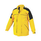 Mens Fleece Lined Warm Waterproof Storm Jacket Yellow & Black 3XL  to 4XL