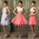ROYAL MAIL FAST~Beaded Mini Formal Evening Bridesmaid Prom Party GRAD Dress Gown
