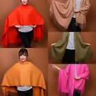 100% Wool soft wrap shawl  scarves long Women beautiful multi colour Pashmina